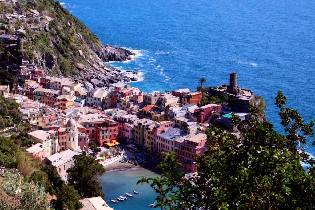 View over Vernazza Cinque Terre Italy, Monterosso to Vernazza, The Glittering Unknown