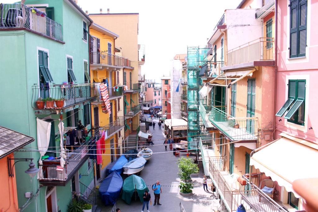 The Glittering Unknown road to the marina Manarola Cinque Terre Italy