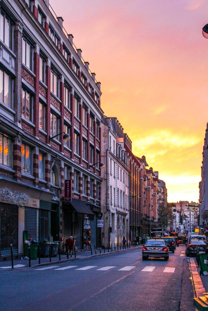 Sunset on rue de Charonne- 5 Best Sunset Spots in Paris