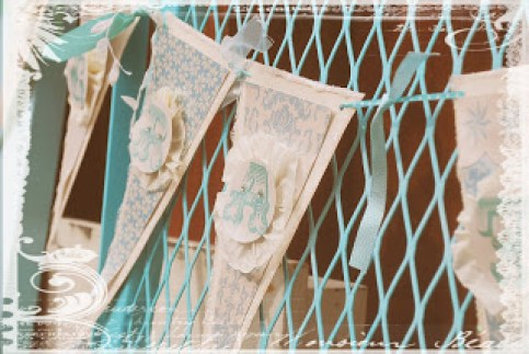 baptism party, outdoor party. red and turquoise party, paper banners, lanterns,  birthday party,