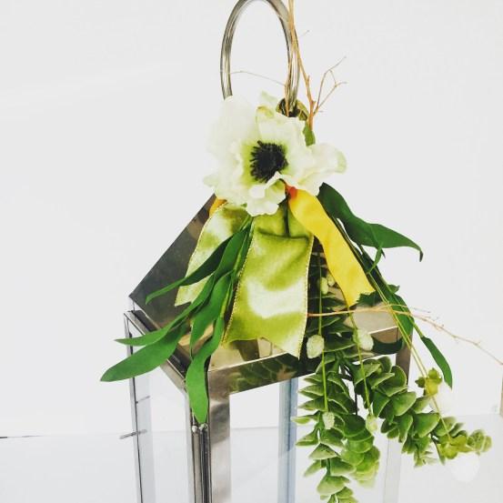Wedding lantern, floral spray