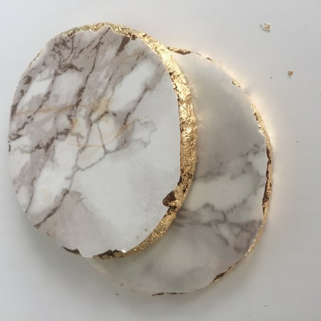 marble contact paper coasters