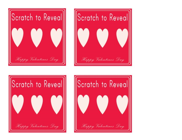 scratch off card, valentines for him. Easy craft for kids, free printable, printable, paper crafts,