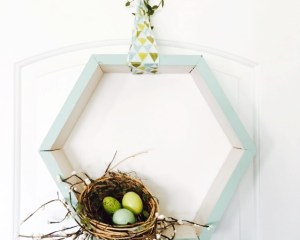 How to make a modern spring wreath for your front door.