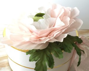 Crepe Paper flowers, how to make a cabbage rose.