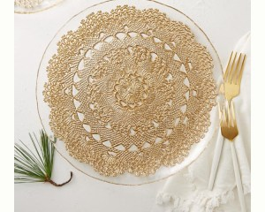 IKEA hack, Anthropology gold lace plate