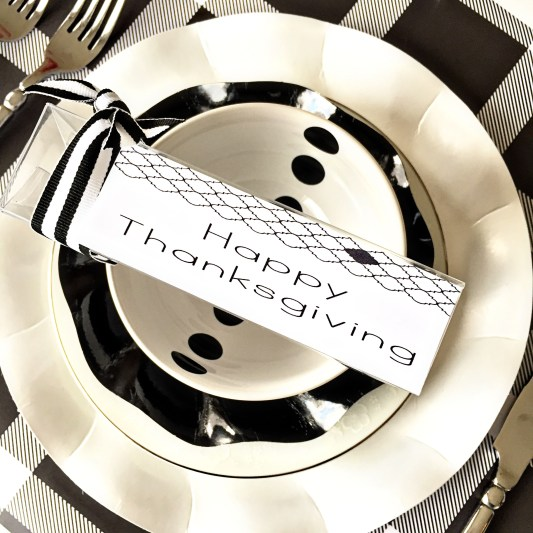 Thanksgiving table-settings, Table settings, Sophistiplate, ikea, the container store, target, free printable, thanksgiving printable , black and white table setting