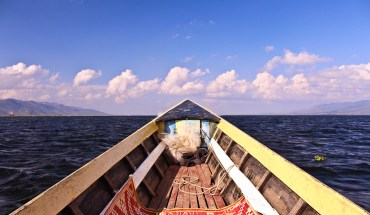 Longboat on Inle Lake