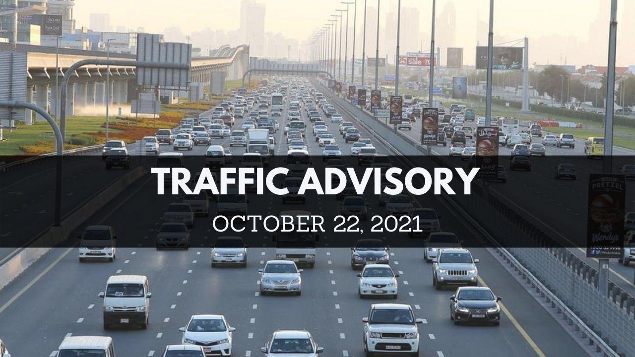 RTA warns motorists to expect traffic delays in Dubai