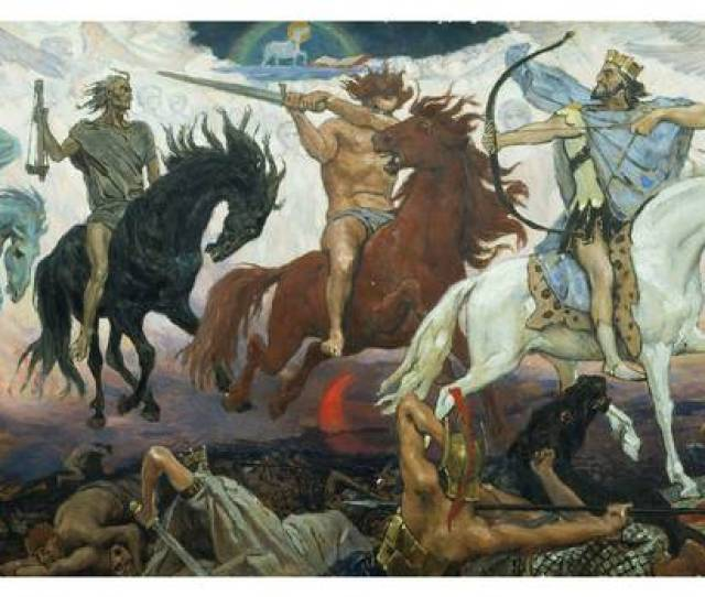 Viktor Vasnetsovs  Painting Four Horsemen Of The Apocalypse Depicts The Christian Vision Of The End
