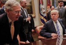 Trump, Mitch McConnell, crisis, Senate, Republican Party