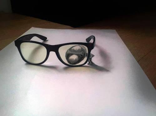 amazing 3d paper art , glasses
