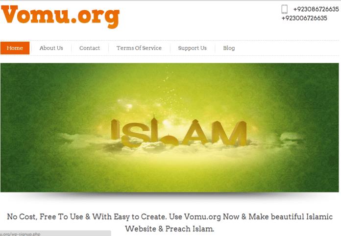 Create free Islamic Websites
