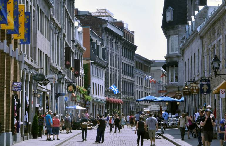 Old Montreal - Rue Saint Paul in Montreal