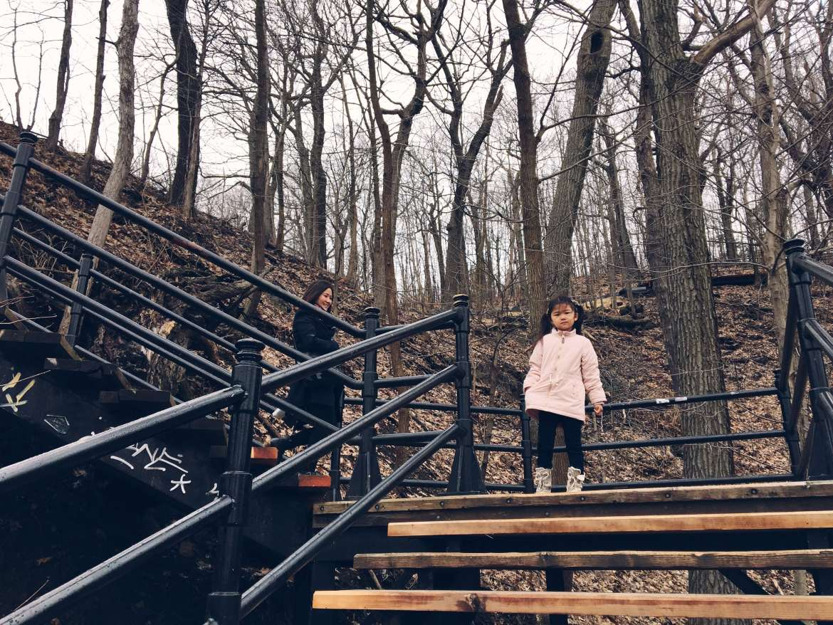 Stairs to Chalet du Mont Royal