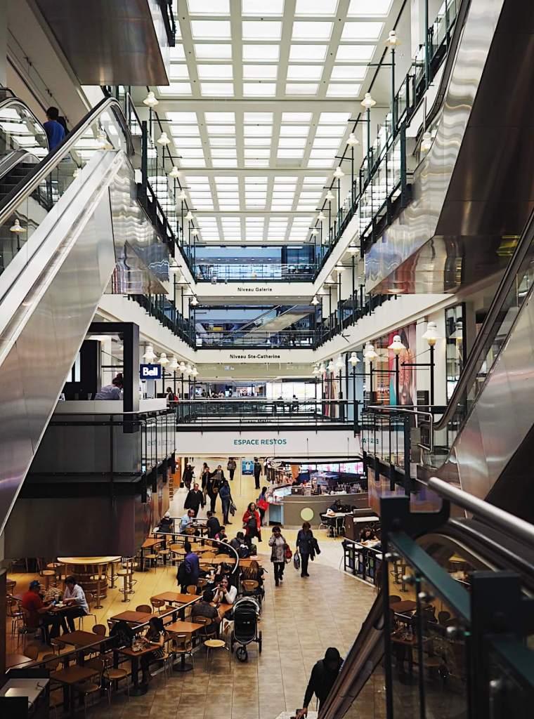 Eaton Center in Underground City, Montreal