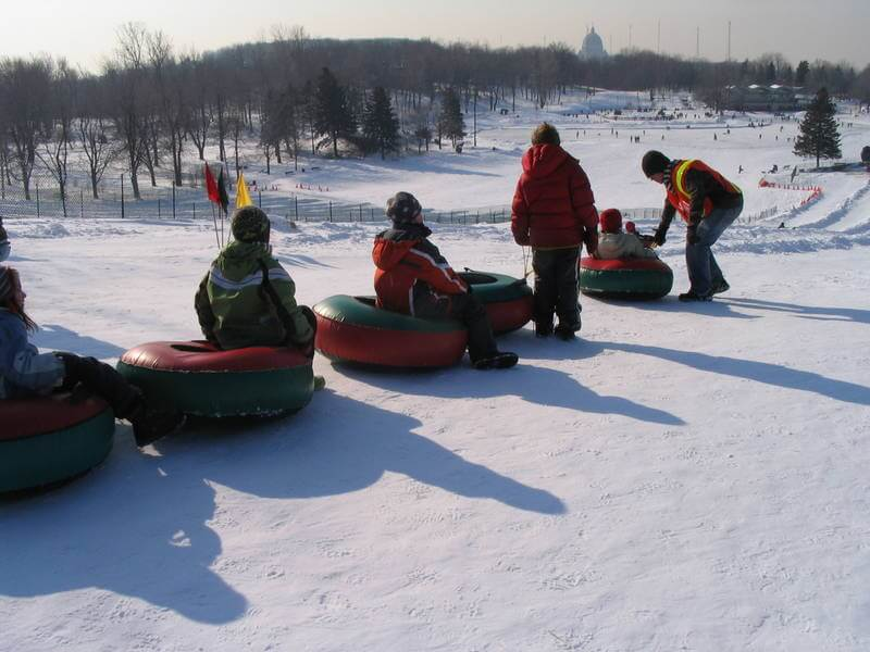 Winter Sports at Mont Royal in Montreal