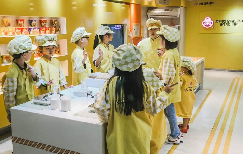 Learning to make Cheeseboki at Kidzania in Seoul, Korea