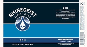 Zen, By Rhinegeist Brewing, Cincinnati Ohio