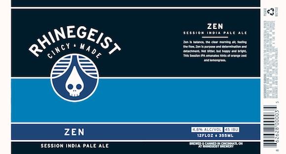 Zen, By Rhinegeist Brewing, Cincinnati Ohio