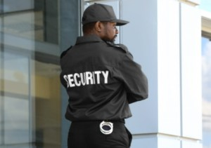 security guard at work