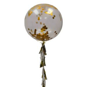 Globo Gigante Con Confetti Dorado