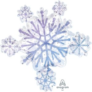 Globo Mylar Snowflakes