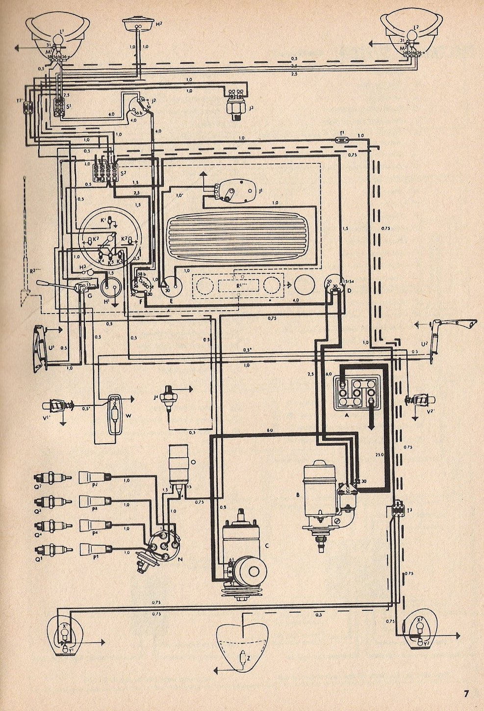 73 Vw Bug Fuse Box Wiring Another Blog About Diagram Beetle Free Picture Schematic Condenser