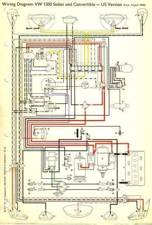 1967 Beetle Wiring Diagram (USA) | TheGoldenBug