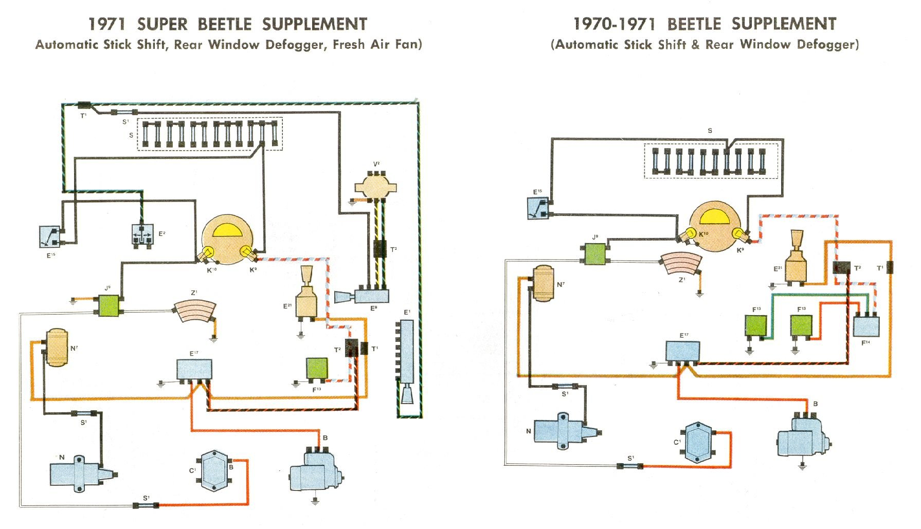 1970 Vw Beetle Turn Signal Wiring Diagram Schematic Diagram