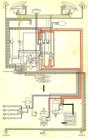 1959 Bus Wiring Diagram (USA) | TheGoldenBug