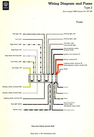 1963 Bus Wiring diagram | TheGoldenBug