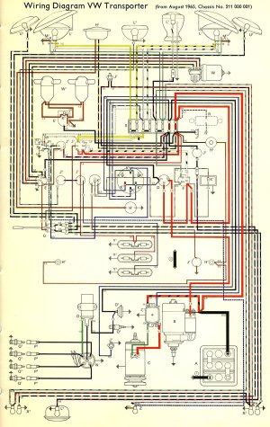 1966 Bus Wiring diagram | TheGoldenBug