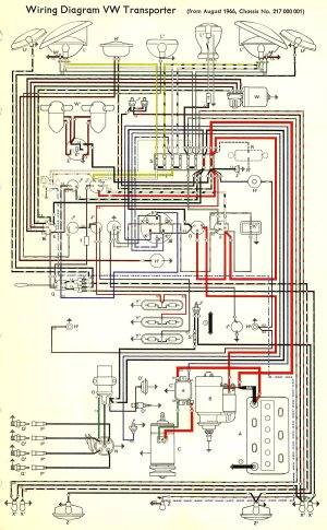 1967 Bus Wiring diagram | TheGoldenBug