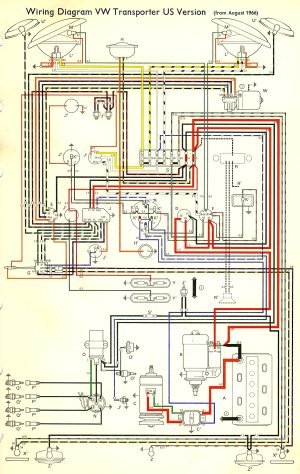 1967 Bus Wiring diagram (USA) | TheGoldenBug