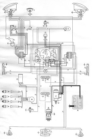1953 Bus Wiring Diagram | TheGoldenBug
