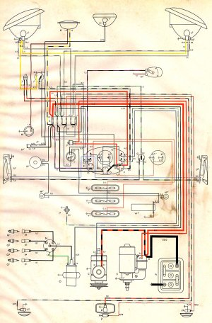 1954 Bus Wiring Diagram | TheGoldenBug