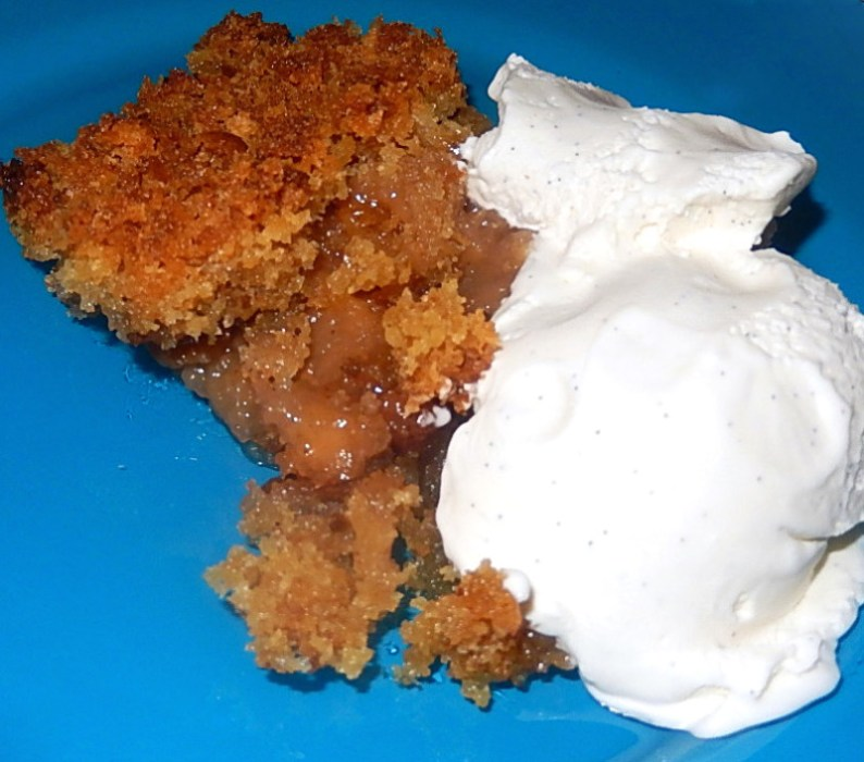 Apple brown Betty in all its glory. Serve it with good vanilla ice cream, preferably homemade