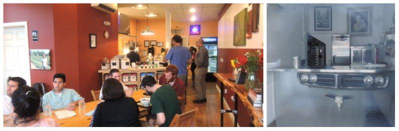 The dining room at Suzukiya and inside OCHO