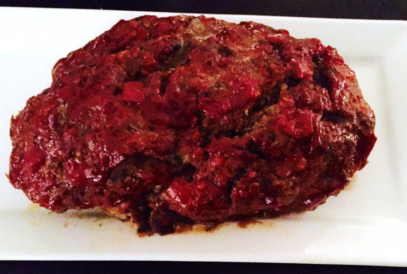 Classic meatloaf in tomato glaze