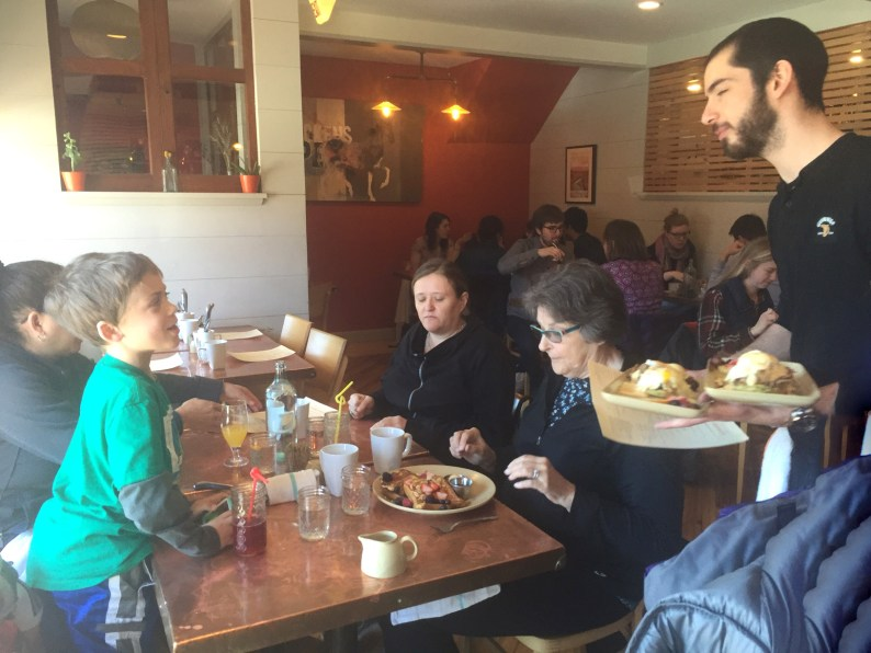 A hale and hearty scene at Terlingua's well- attended Sunday brunch