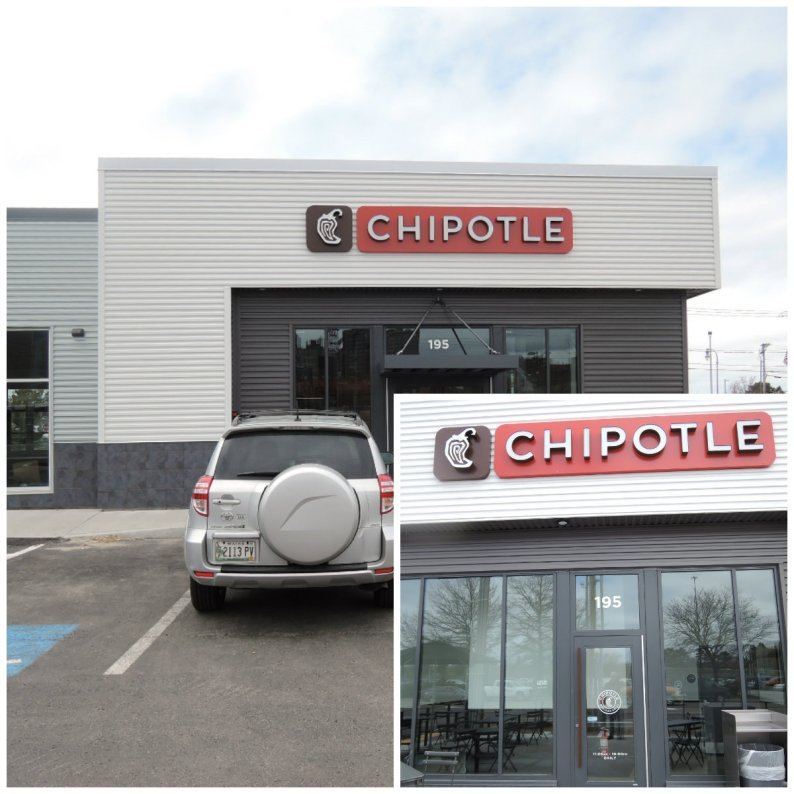 Chipotle Portland front and rear views