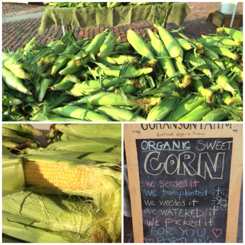 Corn at the Portland Farmer's Market