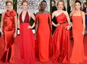 Red Carpet Trends from the 2014 Golden Globes Vestidos Rojos TheGoldenStyle
