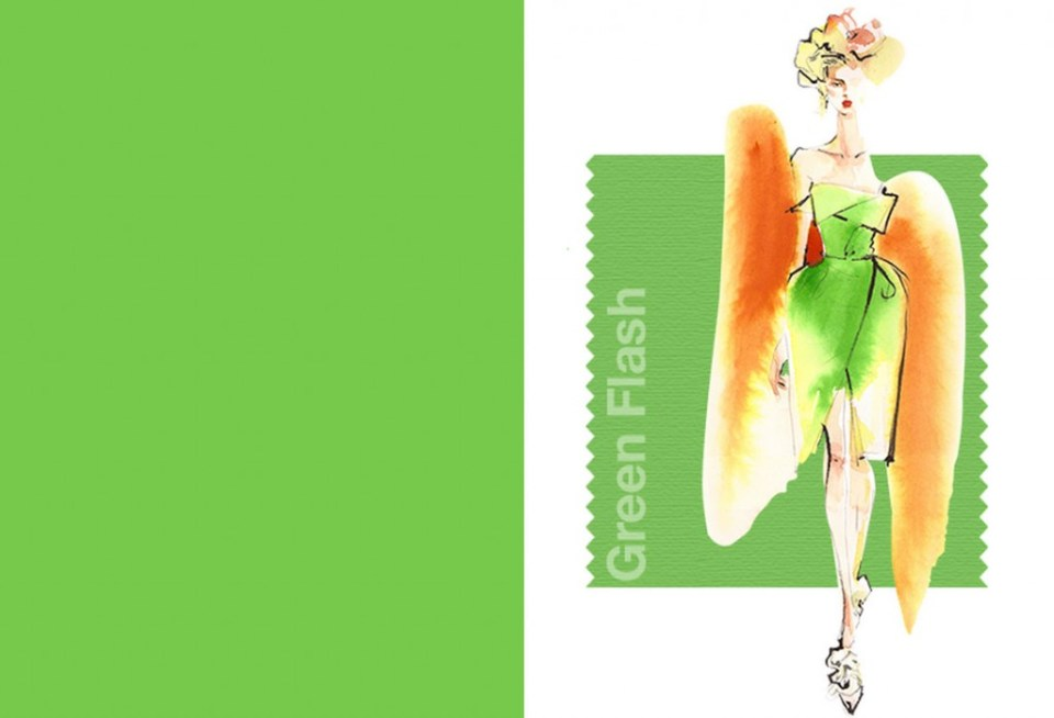Tendencias color Primavera Verano 2016 Mujer TheGoldenstyle pantone-color green-flash