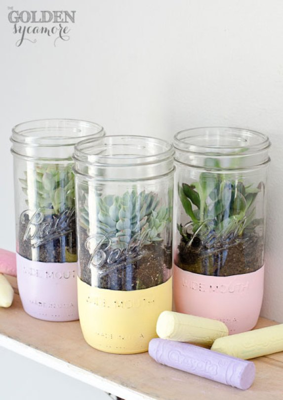 mason jar crafts, mason jar ideas, succulent mason jar planters