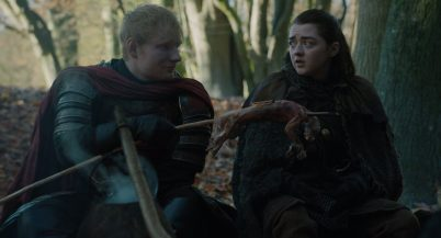 game of thrones arya stark and lannister soldiers ed sheeran