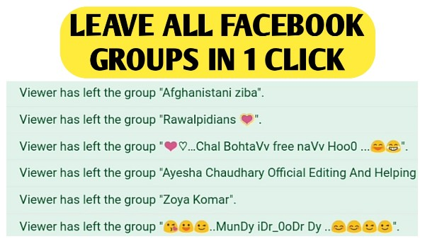 How To Leave Group On Facebook - Facebook Groups List