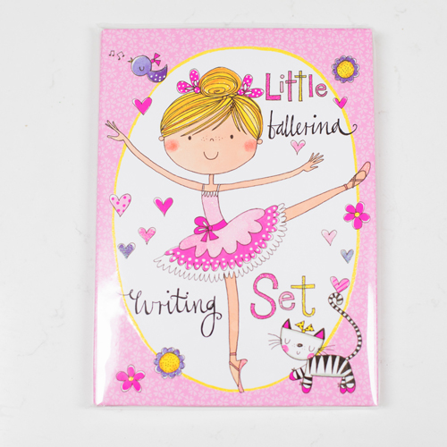 Ballerina writing wallet