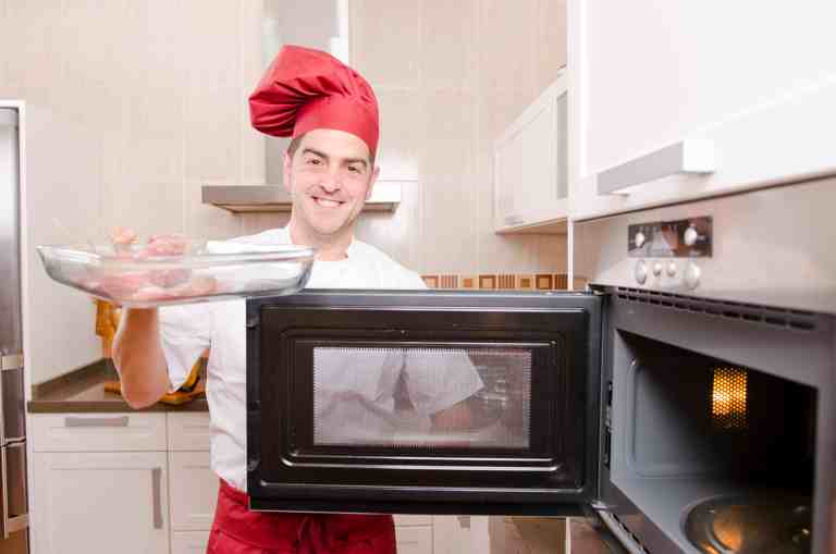 Ched using microwave